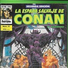 Cómics: LA ESPADA SALVAJE DE CONAN EL BARBARO NUMERO 41. Lote 190571316