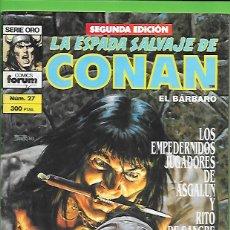 Cómics: LA ESPADA SALVAJE DE CONAN EL BARBARO NUMERO 27. Lote 190573510