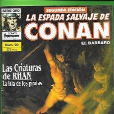 Cómics: LA ESPADA SALVAJE DE CONAN EL BARBARO NUMERO 20. Lote 190586243