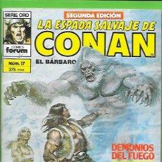 Cómics: LA ESPADA SALVAJE DE CONAN EL BARBARO NUMERO 17. Lote 190587032