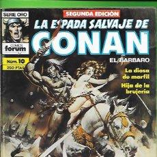 Cómics: LA ESPADA SALVAJE DE CONAN EL BARBARO NUMERO 10. Lote 190590542