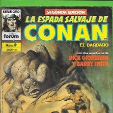 Cómics: LA ESPADA SALVAJE DE CONAN EL BARBARO NUMERO 9. Lote 190590895