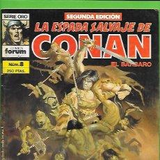 Cómics: LA ESPADA SALVAJE DE CONAN EL BARBARO NUMERO 8. Lote 190591293