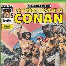 Cómics: LA ESPADA SALVAJE DE CONAN EL BARBARO NUMERO 7. Lote 190598677
