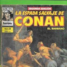 Cómics: LA ESPADA SALVAJE DE CONAN EL BARBARO NUMERO 5. Lote 190599283