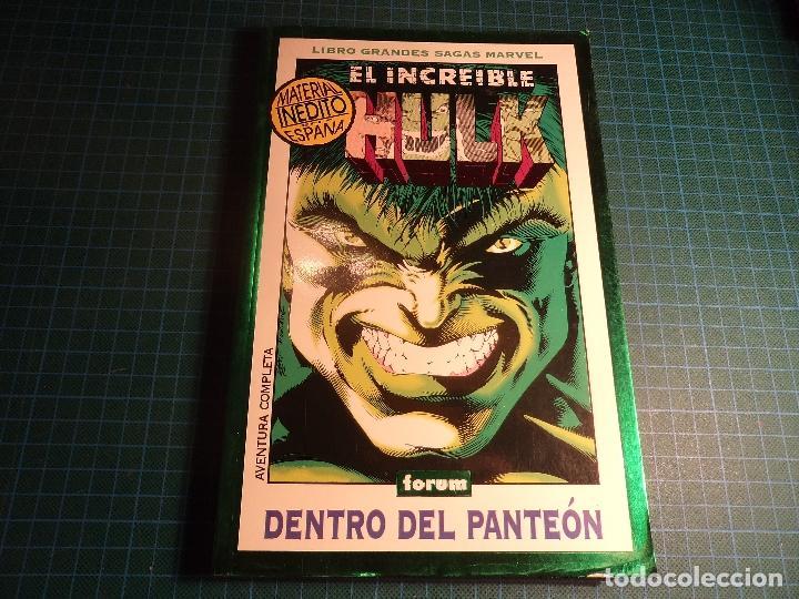 EL INCREIBLE HULK. DENTRO DEL PANTEON. GRANDES SAGAS MARVEL. FORUM. (REF-004). (Tebeos y Comics - Forum - Hulk)