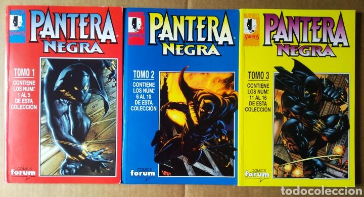 LOTE RETAPADOS MARVEL KNIGHTS PANTERA NEGRA TOMOS 1-2-3 (CÓMICS FORUM). COLECCIÓN COMPLETA (Tebeos y Comics - Forum - Retapados)