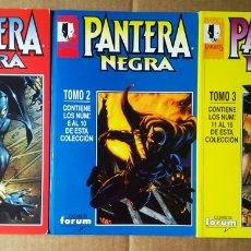 Cómics: LOTE RETAPADOS MARVEL KNIGHTS PANTERA NEGRA TOMOS 1-2-3 (CÓMICS FORUM). COLECCIÓN COMPLETA. Lote 191449348