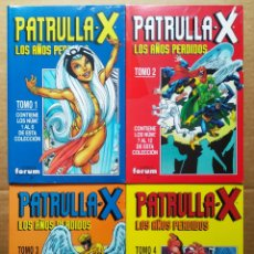 Cómics: LOTE RETAPADOS PATRULLA X: LOS AÑOS PERDIDOS TOMOS 1-2-3-4 (FORUM). PRECINTADOS. N°1 AL 22. COMPLETA. Lote 191449652