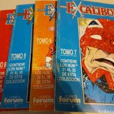 Cómics: EXCALIBUR VOL 1 RETAPADO TOMOS 6 7 8 9 - FORUM. Lote 191656716