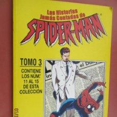 Cómics: SPIDERMAN , LAS HISTORIAS JAMAS CONTADAS , TOMO 3 FORUM CONTIENE LOS NºS 11 AL 15 . Lote 191822920