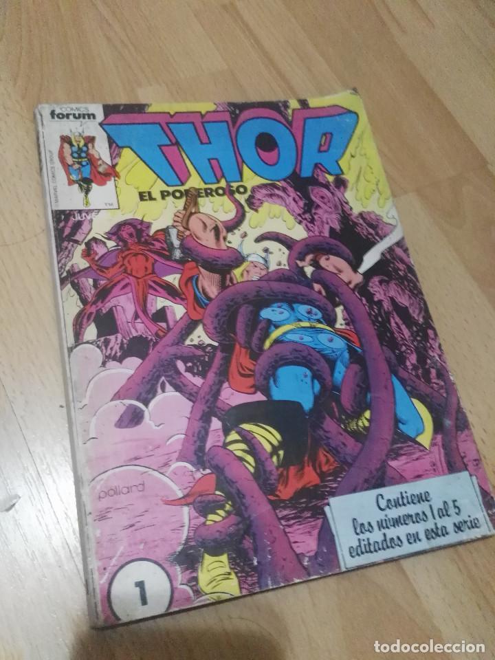 RETAPADO 1-5 'THOR' FORUM 1ª SERIE (Tebeos y Comics - Forum - Thor)