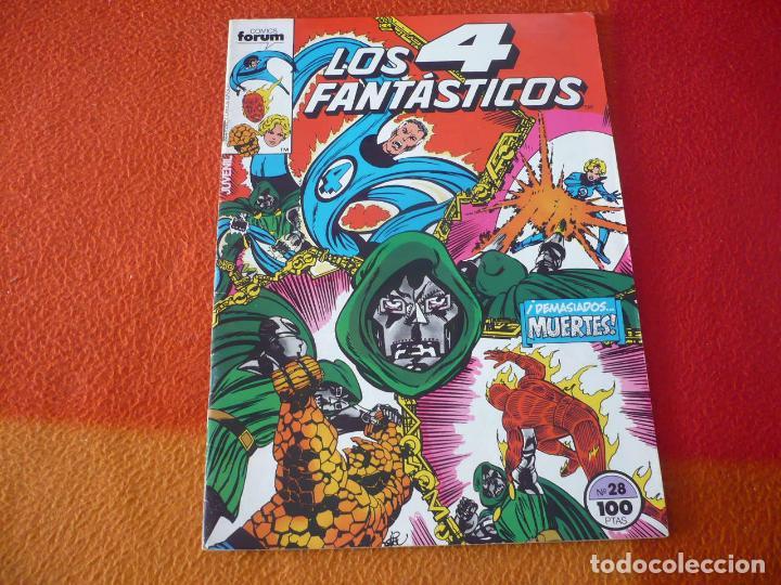 LOS 4 FANTASTICOS VOL. 1 Nº 28 ( BYRNE ) ¡BUEN ESTADO! MARVEL FORUM (Tebeos y Comics - Forum - 4 Fantásticos)