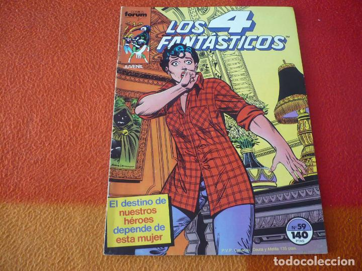 LOS 4 FANTASTICOS VOL. 1 Nº 59 ( BYRNE ) ¡BUEN ESTADO! MARVEL FORUM (Tebeos y Comics - Forum - 4 Fantásticos)