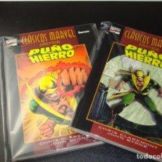 Cómics: CLASICOS MARVEL PUÑO DE HIERRO 1 Y 2 COMPLETA MUY BUEN ESTADO. Lote 192483717