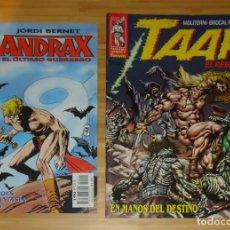 Cómics: TAAR · EL REBELDE - EN MANOS DEL DESTINO - Nº 4 Y ANDRAX - Nº 1. Lote 192576962