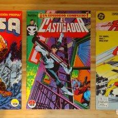 Cómics: LOTE DE 3 CÓMICS: LA COSA - Nº 1, EL CASTIGADOR - Nº 1 Y EL NUEVO FLASH - Nº 1. Lote 192578995
