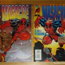 Cómics: MASACRE Nº 1 Y MASACRE Nº 2 [FORUM, 1997] DEADPOOL MARVEL. Lote 192582276