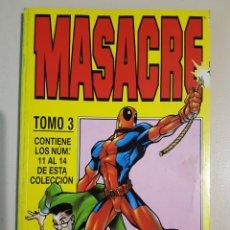 Cómics: MASACRE TOMO 3 - RETAPADO GRAPAS 11 12 13 14 VOL 3 - MARVEL - FORUM. Lote 192845271