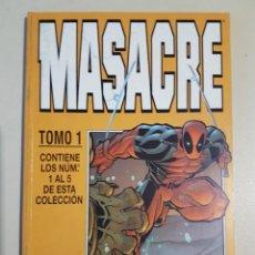 Cómics: MASACRE TOMO 1 - RETAPADO GRAPAS 1 2 3 4 5 VOL 3 - MARVEL - FORUM. Lote 192845328