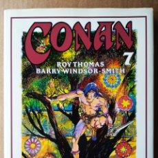Cómics: CONAN NOVELA GRÁFICA N°7, POR ROY THOMAS Y BARRY WINDSOR-SMITH (FORUM, 1995). INCLUYE PÓSTER.. Lote 193079900