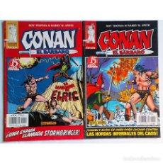 Cómics: CONAN EL BÁRBARO Nº 14 Y Nº 15 (EDICIÓN CRONOLÓGICA) FORUM 1998 ( ROY THOMAS & BARRY W. SMITH). Lote 193359081