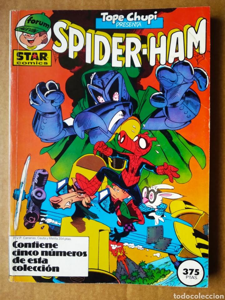 RETAPADO TOPE CHUPI: SPIDER-HAM: NÚMEROS 11-12-13-14-15 (STAR CÓMICS/FORUM ALEVÍN, 1987). (Tebeos y Comics - Forum - Retapados)