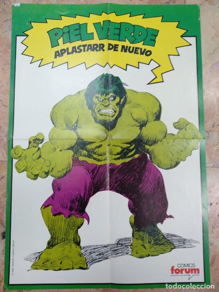 PÓSTER HULK, PIEL VERDE APLASTAR DE NUEVO FÓRUM 1983 (Tebeos y Comics - Forum - Hulk)