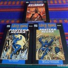 Cómics: CLÁSICOS MARVEL BLANCO Y NEGRO PANTERA NEGRA 1 Y 2 Y KILLRAVEN 1. FORUM 1999. MUY BUEN ESTADO.. Lote 193737361