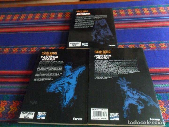 Cómics: CLÁSICOS MARVEL BLANCO Y NEGRO PANTERA NEGRA 1 Y 2 Y KILLRAVEN 1. FORUM 1999. MUY BUEN ESTADO. - Foto 3 - 193737361