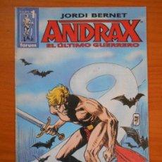 Fumetti: ANDRAX EL ULTIMO GUERRERO Nº 1 - JORDI BERNET - FORUM (6P). Lote 193904571