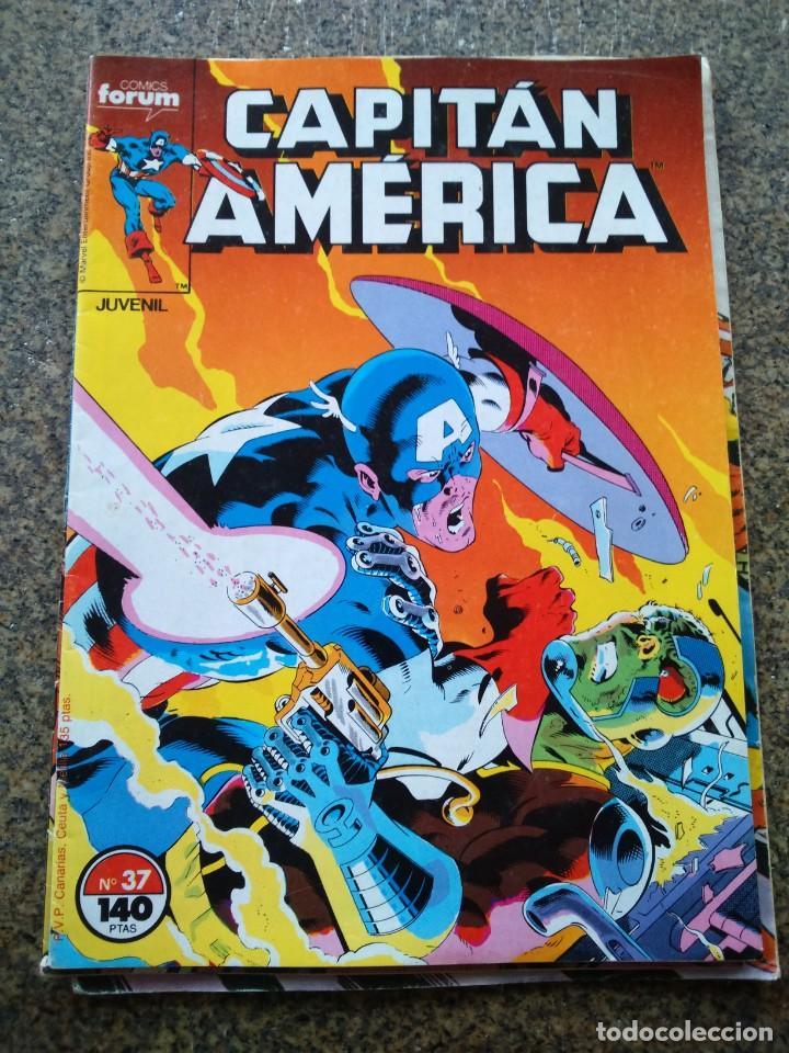 CAPITAN AMERICA -- Nº 37 -- VOLUMEN 1 -- FORUM -- (Tebeos y Comics - Forum - Capitán América)