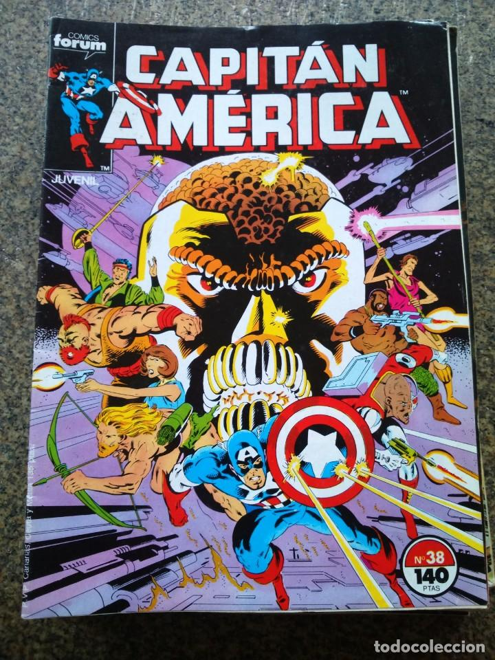CAPITAN AMERICA -- Nº 38 -- VOLUMEN 1 -- FORUM -- (Tebeos y Comics - Forum - Capitán América)