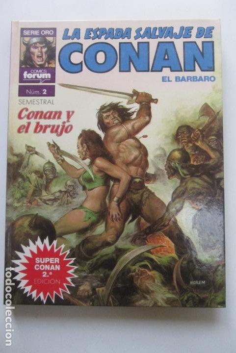 SUPER CONAN TOMO Nº 2 - LA ESPADA SALVAJE DE CONAN - 2ª EDICION FORUM CX41 (Tebeos y Comics - Forum - Conan)