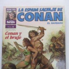 Cómics: SUPER CONAN TOMO Nº 2 - LA ESPADA SALVAJE DE CONAN - 2ª EDICION FORUM CX41. Lote 194124575