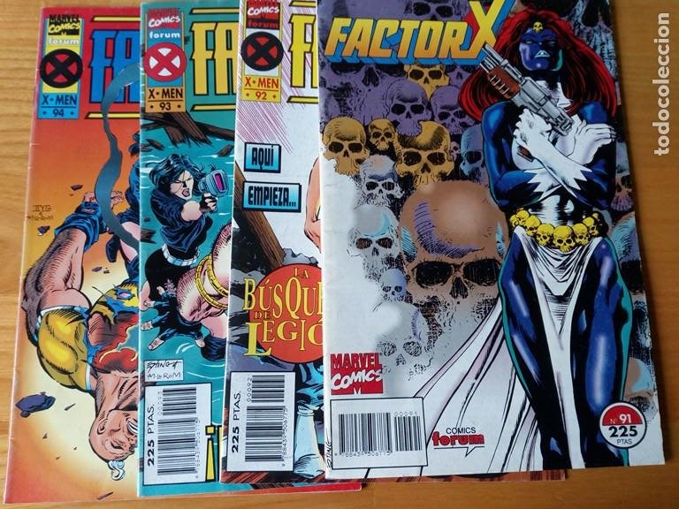 FACTOR X VOLUMEN 1 DEL 91 AL 94. ULTIMOS NUMEROS DE LA COLECCION (Tebeos y Comics - Forum - Factor X)