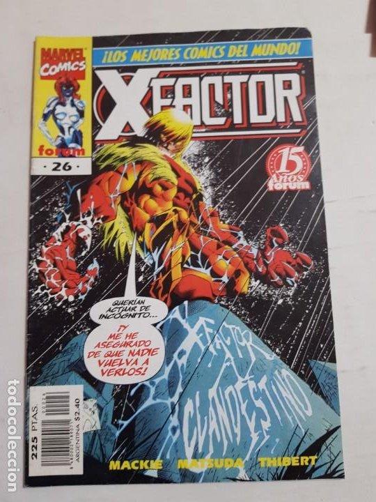 X-.FACTOR Nº 26 FORUM ESTADO BUENO MAS ARTICULOS ACEPTO OFERTAS (Tebeos y Comics - Forum - Factor X)