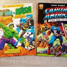 Cómics: CAPITAN AMERICA - EL BICENTENARIO + BATMAN VS LA MASA - ALBUM GIGANTES - FORUM - MARVEL. Lote 194263363
