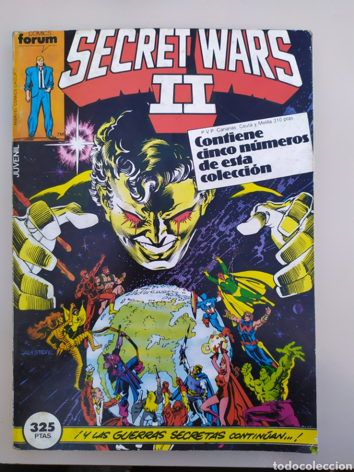 SECRET WARS II RETAPADO.#21 AL 25 FÓRUM. 1986 (Tebeos y Comics - Forum - Retapados)