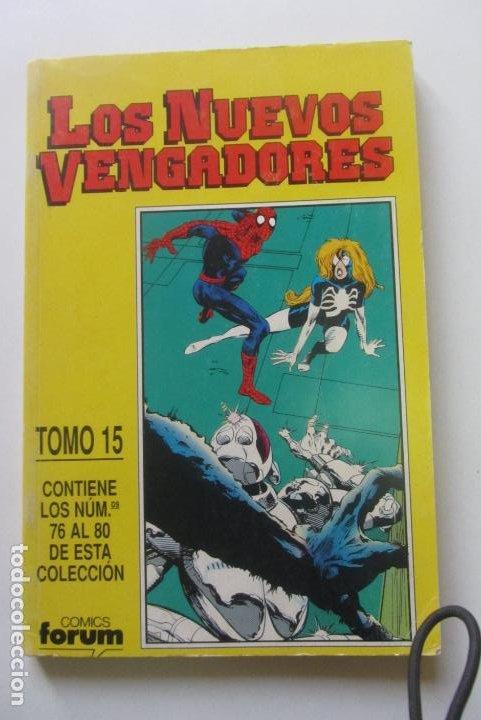 LOS NUEVOS VENGADORES VOL.1 RETAPADO TOMO 15 CON LOS Nº 76-77-78-79-80 FORUM CX41 (Tebeos y Comics - Forum - Retapados)