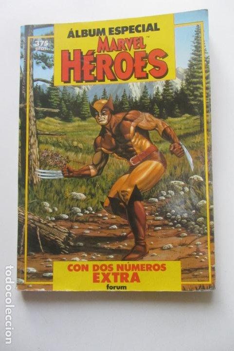 ÁLBUM ESPECIAL MARVEL HÉROES - 2 NÚMEROS EXTRA - FORUM - 1987 CX41 (Tebeos y Comics - Forum - Retapados)