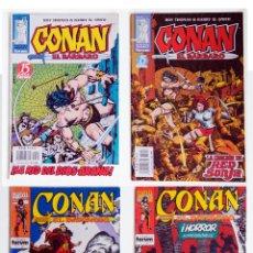 Cómics: 4 CONAN EL BARBARO - FANTASIA HEROICA Nº 15 / 24 / 192 / 196 - ROY THOMAS - FORUM - MARVEL. Lote 194526583