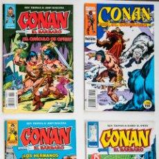 Cómics: 4 CONAN EL BARBARO - FANTASIA HEROICA Nº 13 / 54 / 55 / 196 - ROY THOMAS - FORUM . Lote 194527050