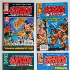 Cómics: 4 CONAN EL BARBARO - FANTASIA HEROICA Nº 15 / 27 / 39 / 54 - ROY THOMAS - FORUM . Lote 194527215