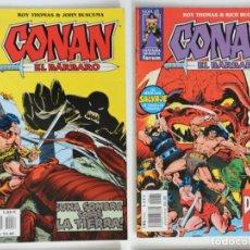 Cómics: 2 CONAN EL BARBARO - FANTASIA HEROICA Nº 40 / 56 - ROY THOMAS - FORUM . Lote 194527290