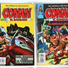 Cómics: 2 CONAN EL BARBARO - FANTASIA HEROICA Nº 55 / 56 - ROY THOMAS - FORUM . Lote 194527350