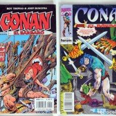 Cómics: 2 CONAN EL BARBARO - FANTASIA HEROICA Nº 41 / 194 - ROY THOMAS - FORUM . Lote 194527502