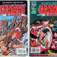 Cómics: 2 CONAN EL BARBARO - FANTASIA HEROICA Nº 27 / 41 - ROY THOMAS - FORUM . Lote 194527906
