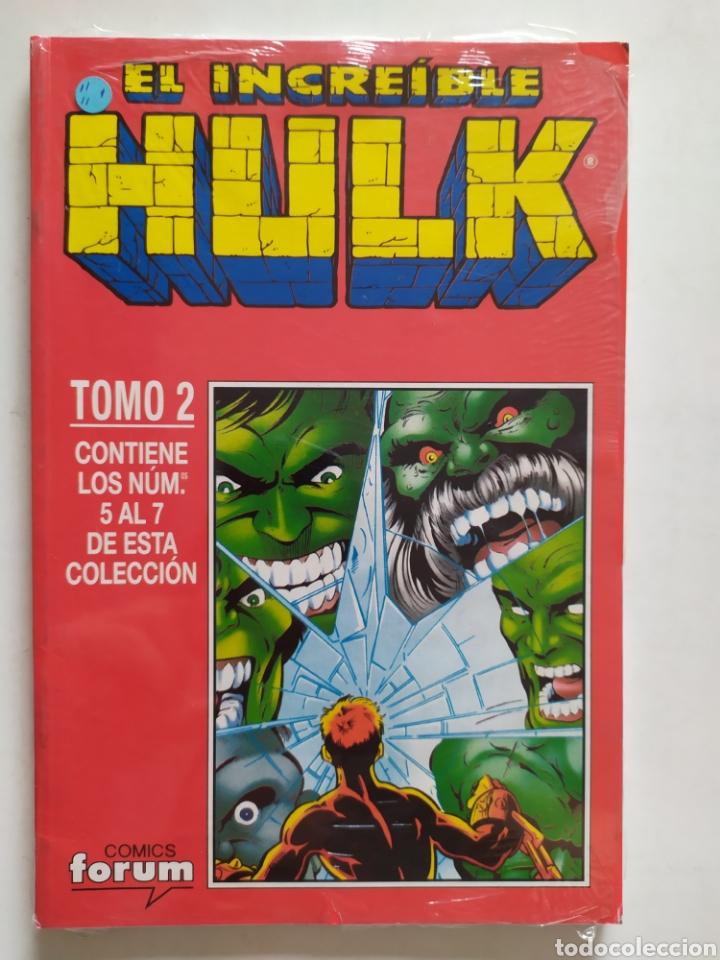 HULK. TOMO 2 # 5 AL 7. RETAPADO. CÓMICS FÓRUM. IMPECABLE! CON PLÁSTICO DE FABRICA. (Tebeos y Comics - Forum - Hulk)