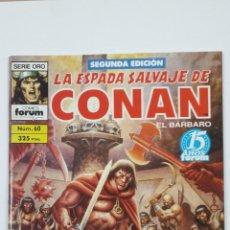 Cómics: LA ESPADA SALVAJE DE CONAN EL BARBARO. Nº 60. SERIE ORO - COMICS FORUM - SEGUNDA EDICION. TDKC47. Lote 194619413